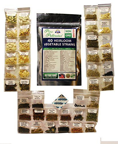 40-Heirloom-Vegetable-Strain-Variety-Pack-Non-GMO-Naturally-Open-Pollinated-and-Chemical-Free-0-0