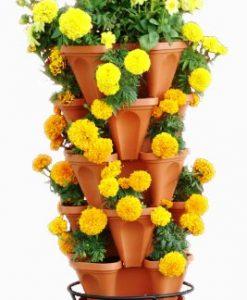 5-Tier-Stackable-Strawberry-Herb-Flower-and-Vegetable-Planter-Vertical-Garden-Indoor-Outdoor-0-2