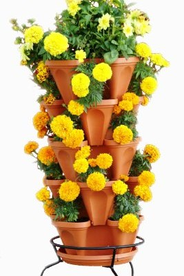 5-Tier-Stackable-Strawberry-Herb-Flower-and-Vegetable-Planter-Vertical-Garden-Indoor-Outdoor-0-2