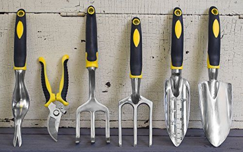 7-Piece-Gardening-Tool-Set-Durable-Aluminum-Alloy-and-Ergonomic-Design-Soft-Touch-Handles-with-Tool-Bag-Pruning-Shears-Trowel-Planter-Weeder-and-Cultivator-Hand-Tools-Included-0-0
