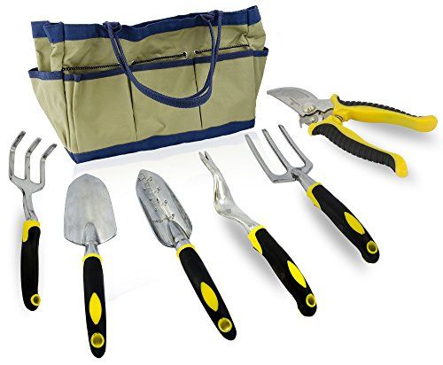 Truefit Designs 7 Piece Garden Tool Set With Durable Cast
