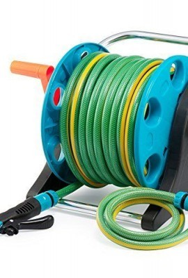 Garden-Hose-Reel-Cart-70-Feet-Greenblue-Hose-Reel-Cart-1-Set-for-Home-Garden-Car-Watering-0-2