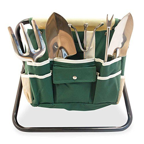 GardenHOME-Folding-Stool-with-Tool-Bag-and-5-Tools-Garden-Tool-Set-All-in-one-0-2