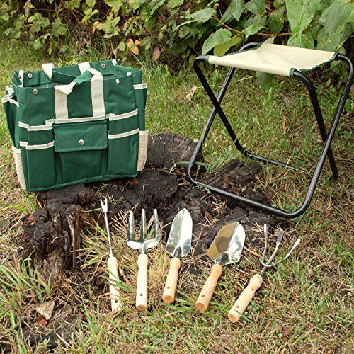 GardenHOME-Folding-Stool-with-Tool-Bag-and-5-Tools-Garden-Tool-Set-All-in-one-0-3