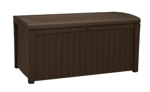 keter borneo plastic deck storage container box outdoor
