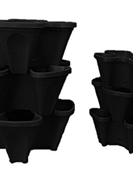 Large-5-Tier-Vertical-Garden-Tower-5-Black-Stackable-Indoor-Outdoor-Hydroponic-and-Aquaponic-Planters-0-3