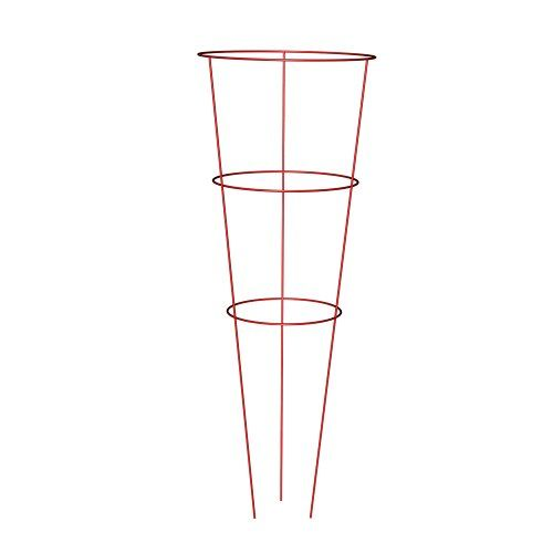 Panacea-Products-89776-Heavy-Duty-Tomato-and-Plant-Support-Cage-Red-Set-of-10-0