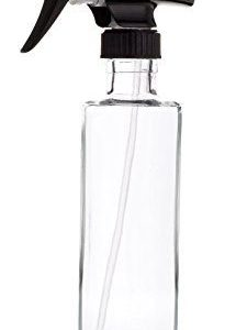 Rail19-Empty-Refillable-Glass-Spray-Bottle-Black-Trigger-Great-for-Cleaning-Products-Aromatherapy-Organic-Beauty-Treatments-Durable-Black-Trigger-Sprayer-w-Spray-and-Stream-Nozzle-Settings-0-0
