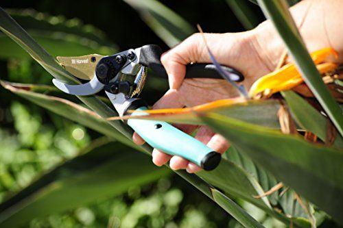 Best garden clippers titanium teflon coated blades for Big scissors for gardening