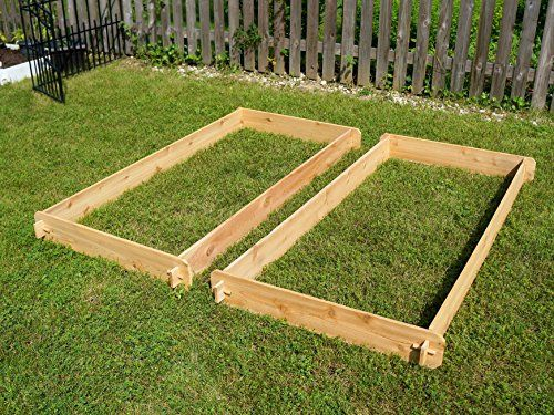 Timberlane-Gardens-3-Ft-X-6-Ft-Double-Deep-Two-3x6-Western-Red-Cedar-Raised-Garden-Bed-with-Mortise-Tenon-Joinery-0-0