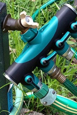 Toch-4-way-Garden-Hose-to-Hose-Connector-Watering-Splitter-Hose-Faucet-SplitterManifold-with-Built-in-Shut-Off-valve-0-0