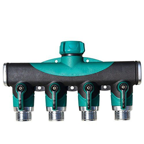 Toch 4 way Garden Hose Splitter Heavy Duty Hose Connector Watering
