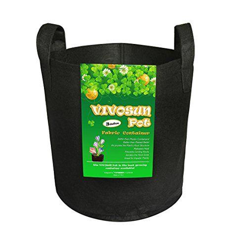 VIVOSUN-Hydroponic-Fabric-Grow-BagsPot-with-Handles-Black-1Pack-3-GAL-0