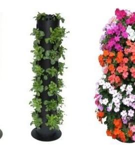 Cedarcraft cascading garden planter 3 tier container garden club - Garden tower vertical container garden ...