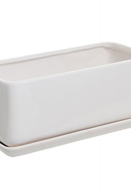10-inch-Rectangular-Modern-Minimalist-Ceramic-Succulent-Planter-Pot-Window-Box-with-Saucer-0-1