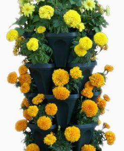 5-Tier-Stackable-Strawberry-Herb-Flower-Vegetable-Planter-Vertical-Gardening-Indoor-Outdoor-Stacking-Garden-Pots-0-0
