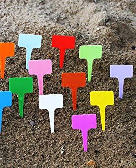 BeautyMood-New-120PCS-Plastic-Waterproof-Plant-Nursery-Garden-Labels-T-type-Tags-Markers-Plant-Stakes-Re-Usable-Plant-Labels-12-Colors-0-0