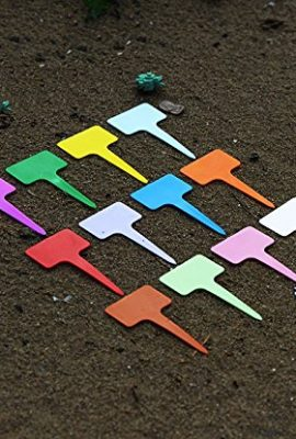 BeautyMood-New-120PCS-Plastic-Waterproof-Plant-Nursery-Garden-Labels-T-type-Tags-Markers-Plant-Stakes-Re-Usable-Plant-Labels-12-Colors-0-1