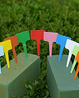 BeautyMood-New-120PCS-Plastic-Waterproof-Plant-Nursery-Garden-Labels-T-type-Tags-Markers-Plant-Stakes-Re-Usable-Plant-Labels-12-Colors-0-2