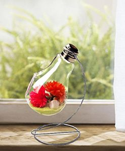 Hanging-Clear-Glass-Bulb-Vase-Air-Plant-Terrarium-Succulent-Planter-Container-w-Silver-Metal-Stand-by-UCQuality-0-4