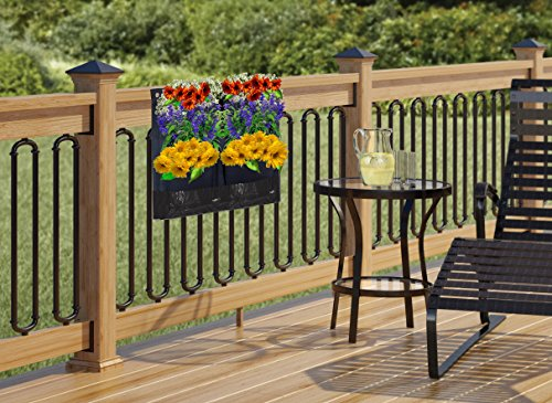 4 Pocket Vertical Garden Planter By Invigorated Living, Waterproof Garden Pots  For Indoor U0026 Outdoor Use On Patios, Balconies U0026 Apartments, ...