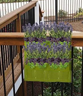 4-Pocket-Vertical-Garden-Planter-By-Invigorated-Living-Waterproof-Garden-Pots-for-Indoor-Outdoor-Use-on-Patios-Balconies-Apartments-Easy-to-Hang-Fill-with-Flowers-Herbs-Vegetables-0-5