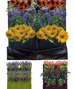 4-Pocket-Vertical-Garden-Planter-By-Invigorated-Living-Waterproof-Garden-Pots-for-Indoor-Outdoor-Use-on-Patios-Balconies-Apartments-Easy-to-Hang-Fill-with-Flowers-Herbs-Vegetables-0-7