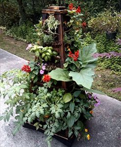 Earth-Tower-Vertical-Garden-4-sided-Wooden-Planter-on-Wheels-0-1