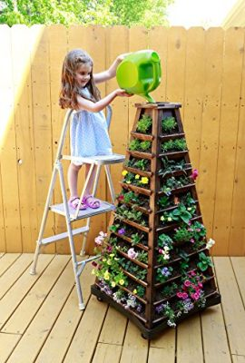Earth-Tower-Vertical-Garden-4-sided-Wooden-Planter-on-Wheels-0-3