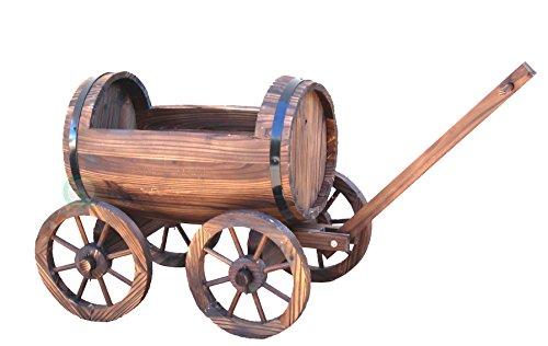 VintiquewiseTM-Large-Barrel-Wagon-Planter-0-0
